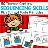 Teach Sequencing Skills - Cards for 50 Centers Plus Printables Preschool & K