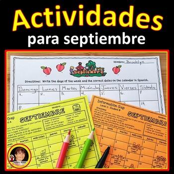 Spanish Months, Days and Seasons (Actividades para septiembre)
