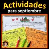 Spanish Back to School Activities (Actividades para septiembre)