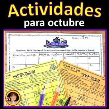 Spanish Halloween/ October Activities (Actividades para octubre)