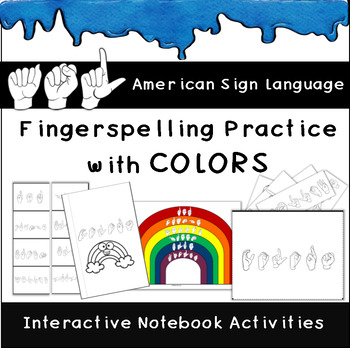graphic regarding Sign Language Colors Printable known as Asl Colour Poster Worksheets Academics Pay out Lecturers
