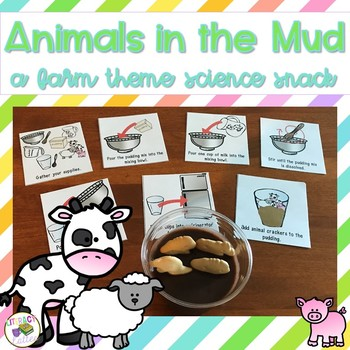Animals in the Mud {a farm unit science snack}