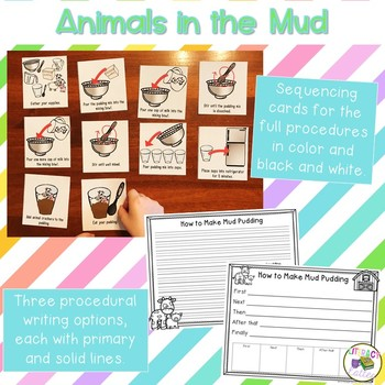 Animals in the Mud {a farm unit science and how to writing activity}