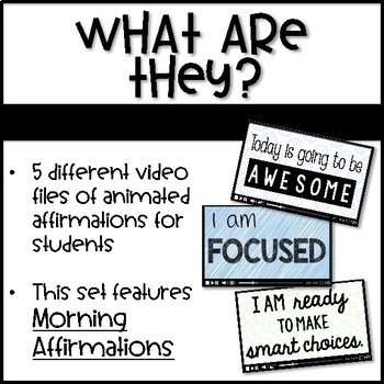 Positive Classrooms Affirmations - GOOD MORNING - Chants for Morning Meeting