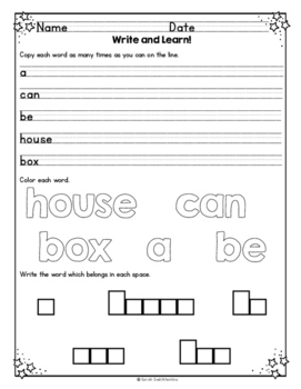 Boxes by Avelyn Davidson, Level A Guided Reading Lesson Plan