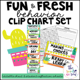 Cactus Classroom Decor: Behavior Clip Chart and Reflection Sheets