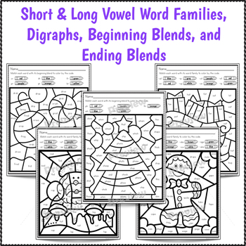 color by code phonics worksheets for christmas by first. Black Bedroom Furniture Sets. Home Design Ideas
