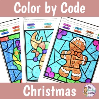 Color by Code Phonics Worksheets for Christmas