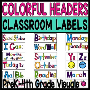 Classroom Signs Subject Headers and Banners