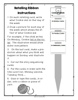 Cookie's Week by Cindy Ward  Tomie de Paola Guided Reading Plan Level F