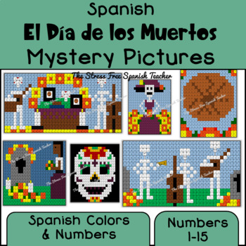 Day of the Dead, Día de los Muertos Color By Number Mystery Pictures