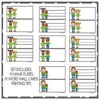 Desk Name Tags SEASONAL KIDS Growing Bundle