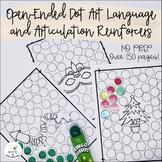 Open-Ended Dot Art Language and Articulation Reinforcers--No-Prep Bundle