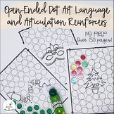 Open-Ended Dot Art Language and Artic Reinforcers--No-Prep Distance Learning