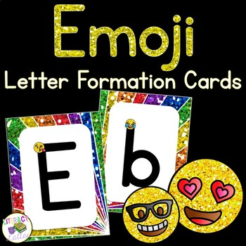 Emoji Alphabet and Handwriting Cards {Perfect for RtI, & intervention}