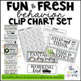 Farmhouse Classroom Decor: Behavior Clip Chart and Reflect