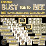 Bee Classroom Theme Decor Bundle - Editable
