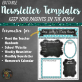 Class Newsletters in Quatrefoil and Chalkboard
