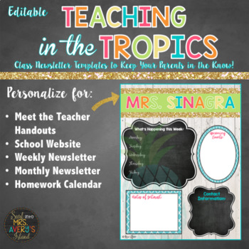 Class Newsletters in a Beach theme