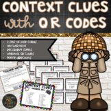 Context Clues Task Cards with Optional QR Codes