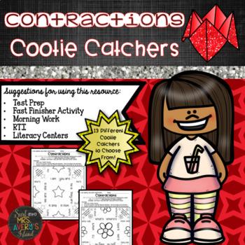 Contractions Cootie Catchers