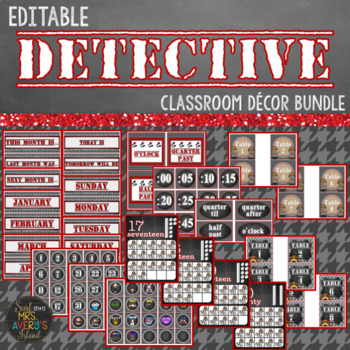 Detective Classroom Decor Bundle