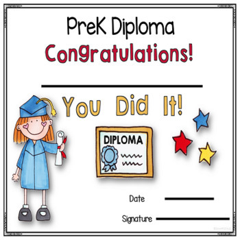 editable prek and kindergarten diplomas and invitations by oink4pigtales