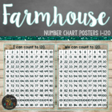 Farmhouse Themed Hundreds Chart Posters (1-120)