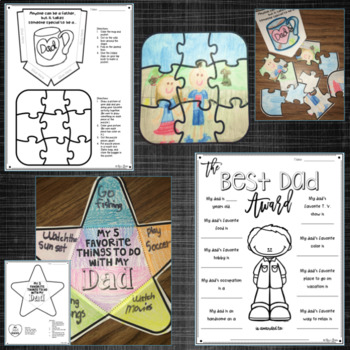 Father's Day/Donuts with Dad/Daddy Daughter Dance Lapbook Activities