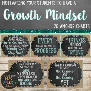 Farmhouse Growth Mindset Posters (Editable)