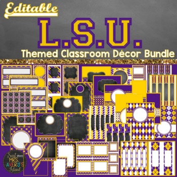 LSU Themed Classroom Decor Bundle