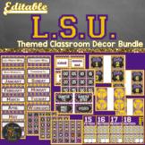 LSU Classroom Theme Decor Bundle Editable