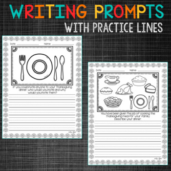 November PRIMARY Writing Prompts and Word Work