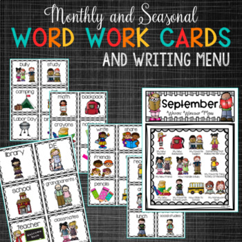 September PRIMARY Writing Prompts and Word Work