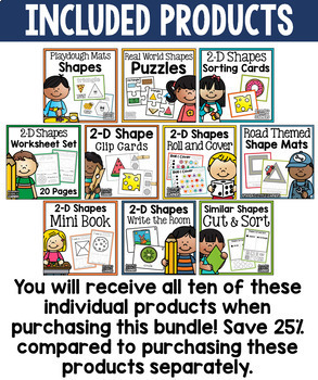 Shapes Activity Bundle - 2-D Real World Objects