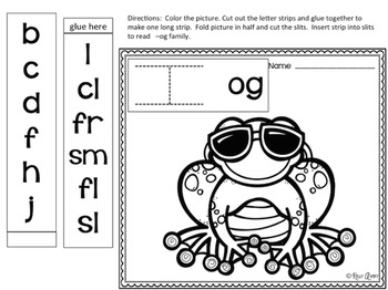 Word Families Vowel O Sound Sliders