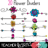 Flower Dividers Clipart #1 * Spring & Summer Borders