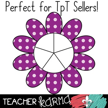 Flower Game Spinners in Polka Dots * Clipart * 60 Graphics