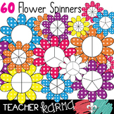 Flower Game Spinners, Clipart