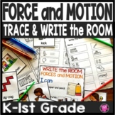 Force and Motion Kindergarten Science Write the Room Activities Set