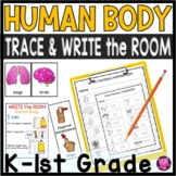Human Body Write the Room Kindergarten Science Activities