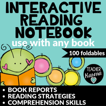 {50% off} Interactive Reading Notebook * Book Reports & Co