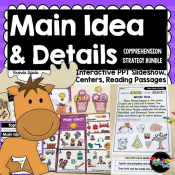 Main Idea and Details: Comprehension Strategy Bundle