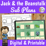 Jack and the Beanstalk Sub Plans 2nd Grade