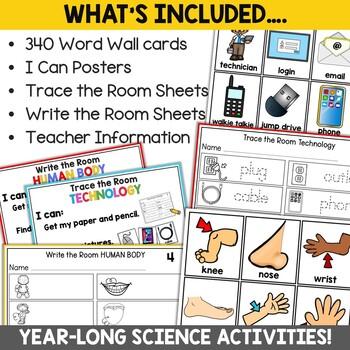Kindergarten Science Write the Room Bundle