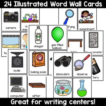 Kindergarten Science Tools Write the Room Word Wall Set
