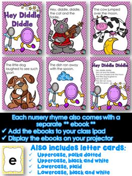 Little Foldable Readers Nursery Rhymes ~ ipad ebook ~ Intervention RTI