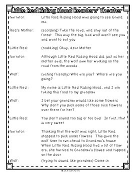 Little Red Riding Hood by Sara Shapiro, Guided Reading Lesson Plan, Level H