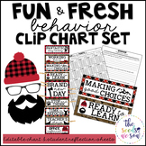 Lumberjack Classroom Decor: Behavior Clip Chart and Reflection Sheets