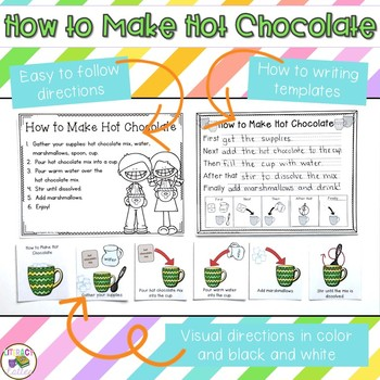 How to Make Hot Chocolate {cooking in the classroom and how to writing}